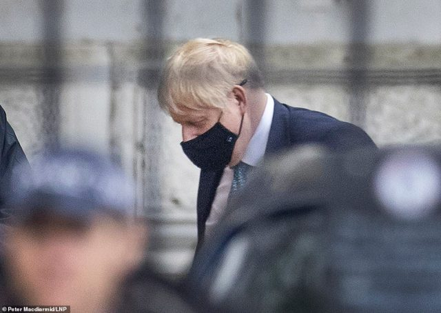 Boris Johnson (pictured in Downing Street yesterday) announced at a press conference on Saturday night that England is being plunged into another lockdown to stop the spread of coronavirus