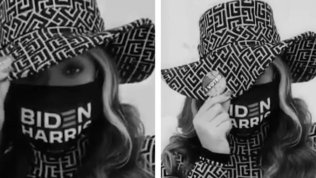 Beyonce urges fans to vote as she endorses Joe Biden and Kamala Harris with  a face mask
