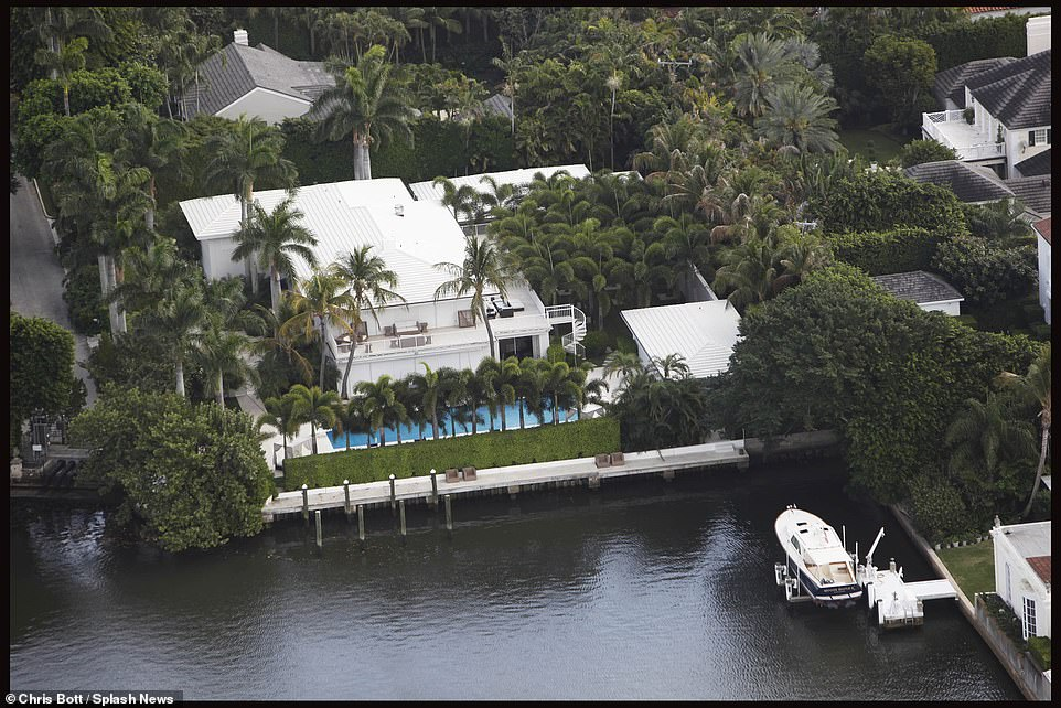 The house has170 feet of water frontage on the Intracoastal Waterway and space for a private dock