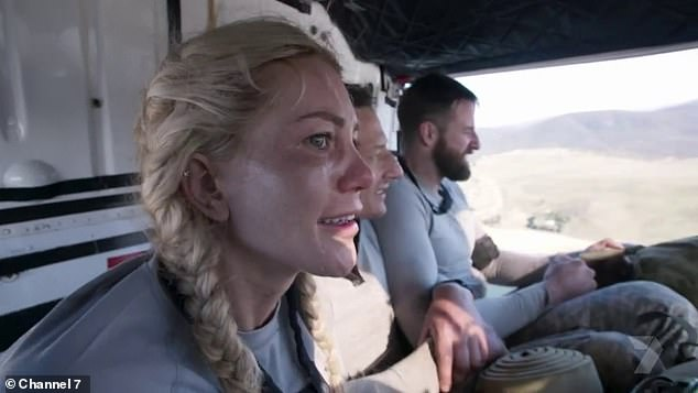 Mind over matter: Ali Oetjen suffered a panic attack during Tuesday's episode of SAS Australia, causing her to quit the hit series