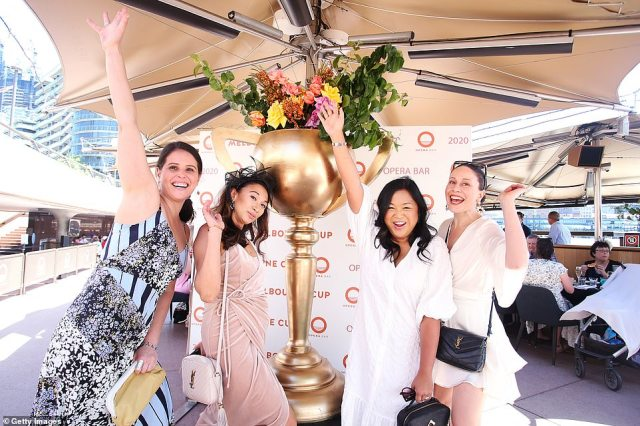 Thousands of jubilant revellers across Australia have kicked off their heels to party into the night after Tuesday's Melbourne Cup.Holly Thorburn, Mae Bye, Rochelle Bye and Lauren Cittarelli attend a Melbourne Cup event at the Opera Bar