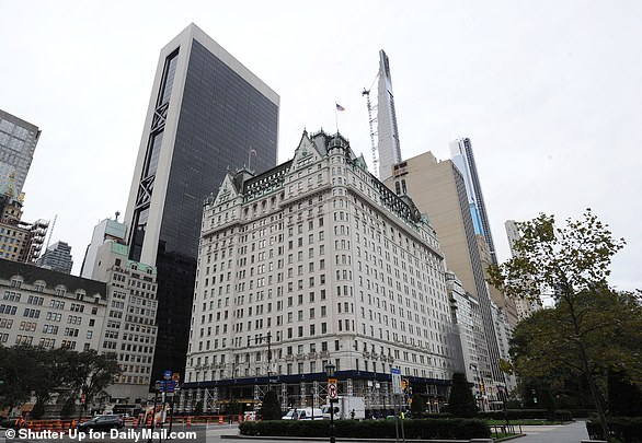 The Plaza Hotel, a New York City landmark, was also boarded up in anticipation of possible unrest on Election Day