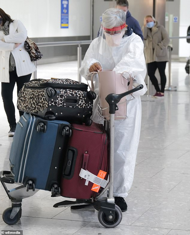 Holiday firms are reporting sales surged by a quarter since last week as Britons capitalise on 11th-hour deals (pictured, Heathrow yesterday)