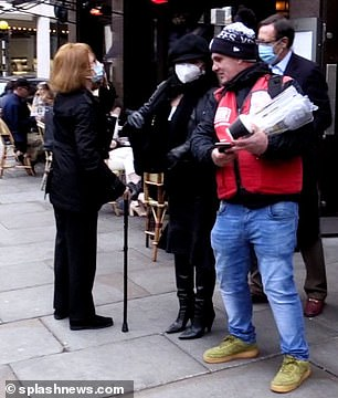 Request: The Big Issue seller was seen approaching Joan and Percy with copies of the magazine