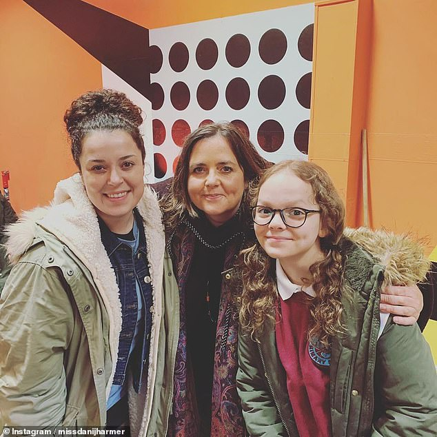 Dani Harmer, who played the character in 2002 when she was just 12 years old, took to Instagram to share a snap with the character who plays Cam Law (pictured)