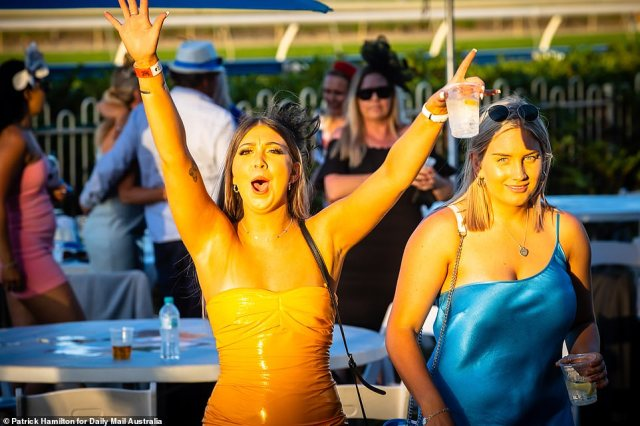 Other race-goers remained keen to keep the party going into the evening after a glamorous day of revelry with friends and loved-ones