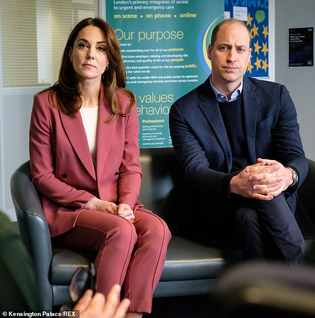 Prince William and Kate visiting the London Ambulance Service in Croydon on March 19