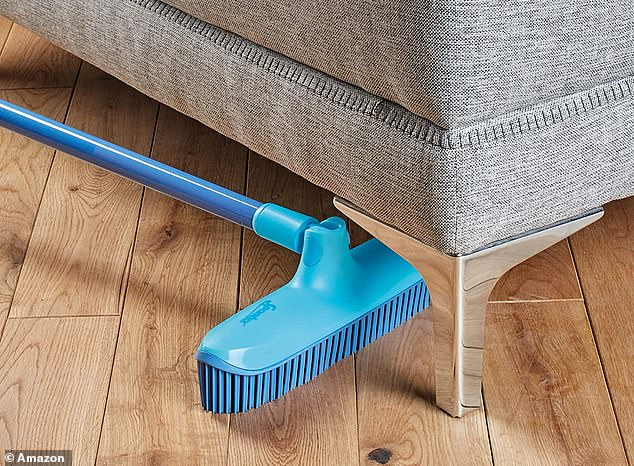 The top-rated rubber broom boasts four different positions so it can clean hard-to-reach areas and reach under furniture