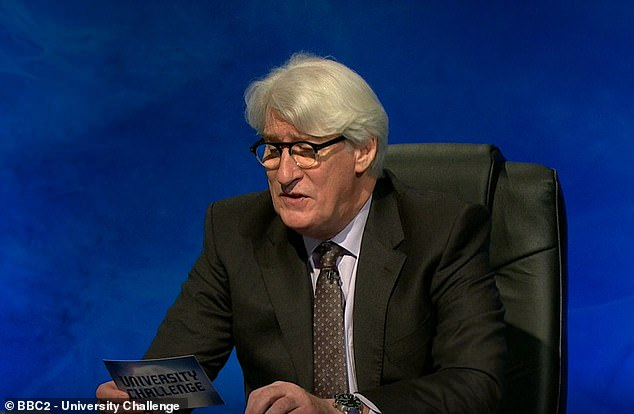 The last three weeks of the show, which is now in the second round, has seen Paxman's hair inching longer every week