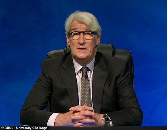 The 70-year-old host is currently sporting a curtain of white hair on the show, which was filmed during the first lockdown. Paxman's hair has captivated viewers of the BBC2 quiz