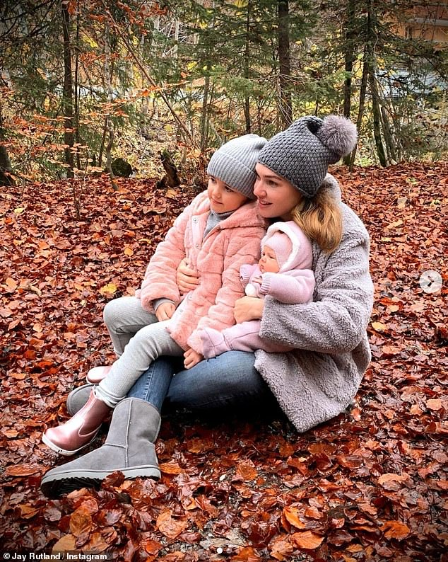 Love:Jay Rutland shared a sweet family update over the weekend, as he posted snaps of his wife Tamara Ecclestone and their two children in an autumnal setting
