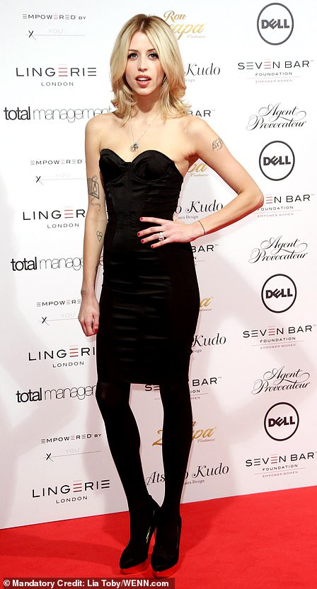 Peaches Geldolf, pictured in 2012, had a tattoo on her arm with OTO and a heart shape