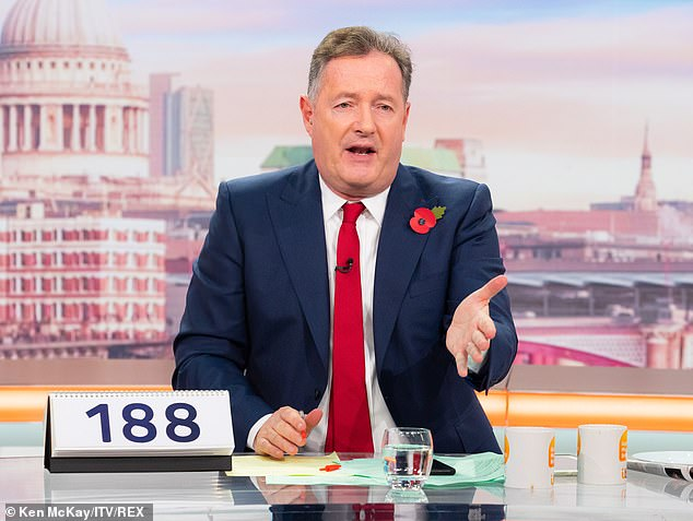 Scumbags! Piers's social media row came soon after he was keen to hit out at Kate's car thieves on Monday's GMB show, who he labelled 'disgusting scumbags'
