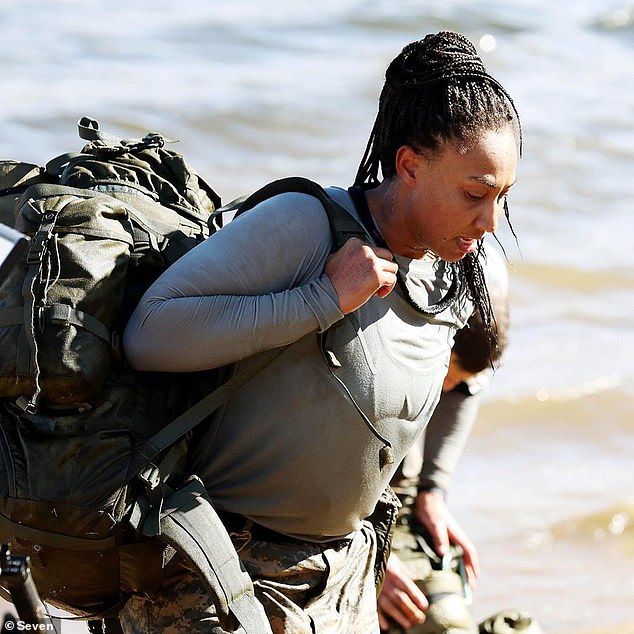 Standing up for herself:Sabrina Frederick (pictured) caused shock waves when she freed herself and left behind her teammates during a brutal challenge on Tuesday's episode of SAS Australia. After the episode aired, the 23-year-old AFLW player defended herself on Instagram