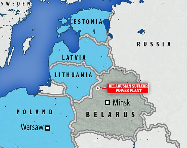 The Belarusian nuclear power station has proved divisive over safety concerns and due to its location around 12 miles (20 kilometres) from the border with EU and NATO member Lithuania.