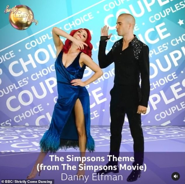 Cartoon: Max George and Dianne Buswell will do their Couples' Choice to The Simpsons Theme by Danny Elfman from The Simpsons Movie