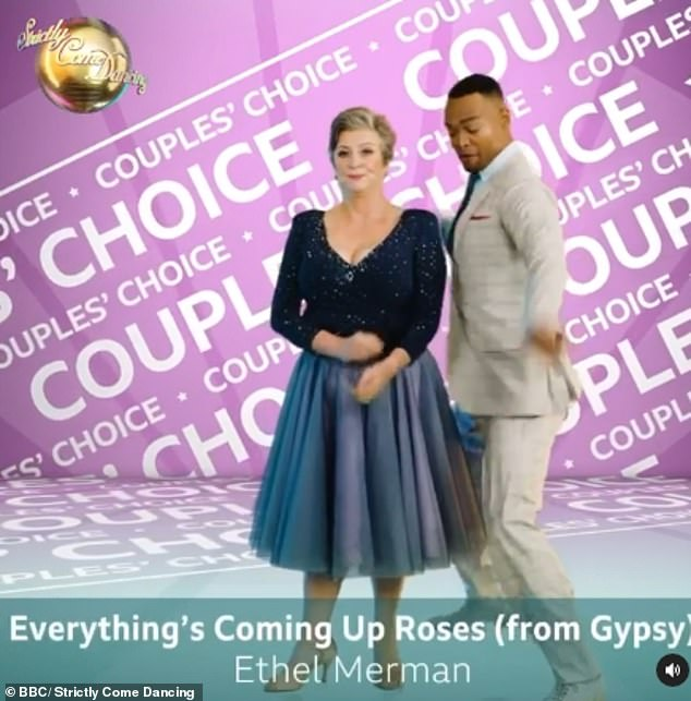 Couples' Choice: Caroline Quentin and Johannes Radebe will do their Couples' Choice to Everything's Coming Up by Roses Ethel Merman from Gypsy