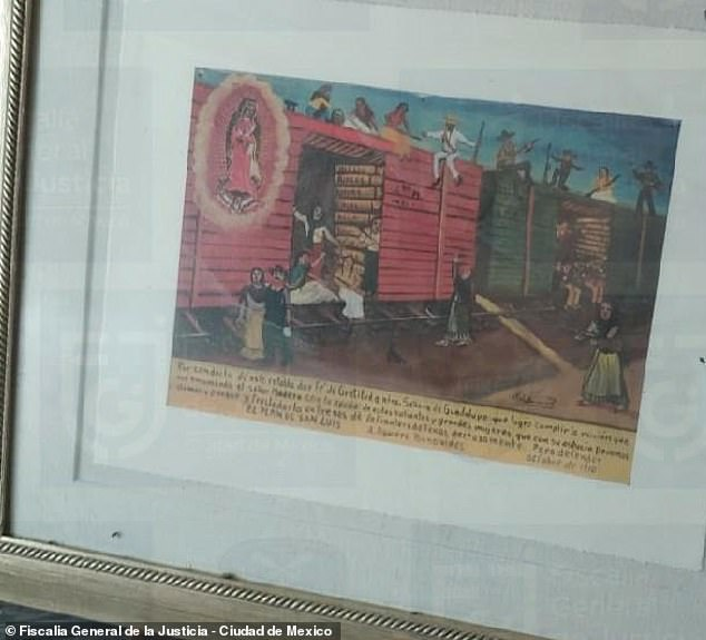 Law enforcement agents also managed to confiscate Raymundo Collins' vast collection of art works