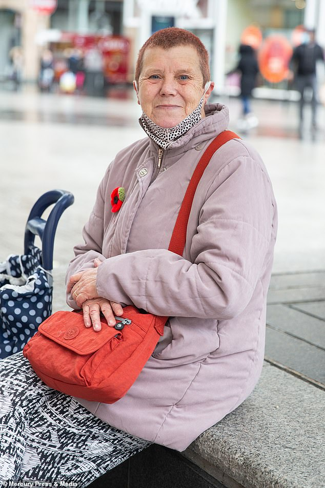 Carol Green said many people were 'frightened,' by the pandemic as she carried out some last-minute shopping before England went into lockdown on Thursday