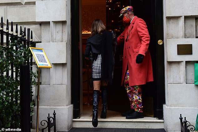 Out and about:Last month, Lizzie stepped out for dinner with Lady Kitty Spencer's wealthy Italian ex Niccolo Barattieri di San Pietro