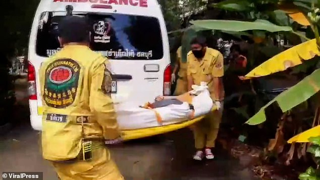 Saengthong's body has been taken to a hospital so that a port-mortem examination can ascertain the exact cause of death
