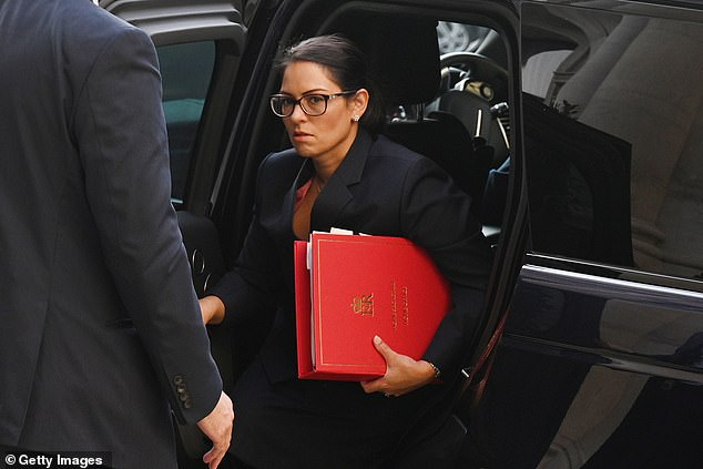 Home Secretary Priti Patel, pictured, is expected to say the rise in threat level is a 'precautionary' response to the terror attacks in Paris, Nice and Vienna in recent weeks