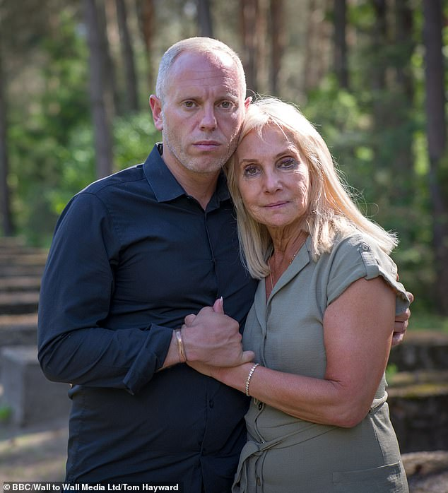 Judge Rinder said that the most painful thing in the world is seeing your parent cry, and he that after leaving the camp neither he nor his mother (pictured right) could speak
