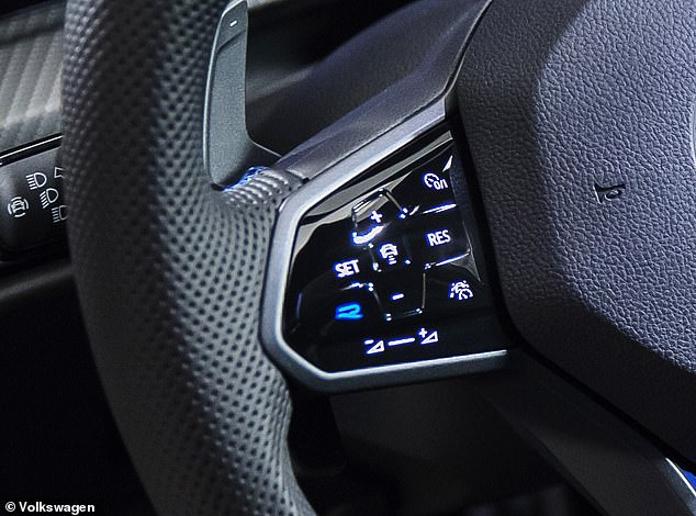Drift mode is part of the R-Performance pack, which is activated using the blue 'R' button the steering wheel