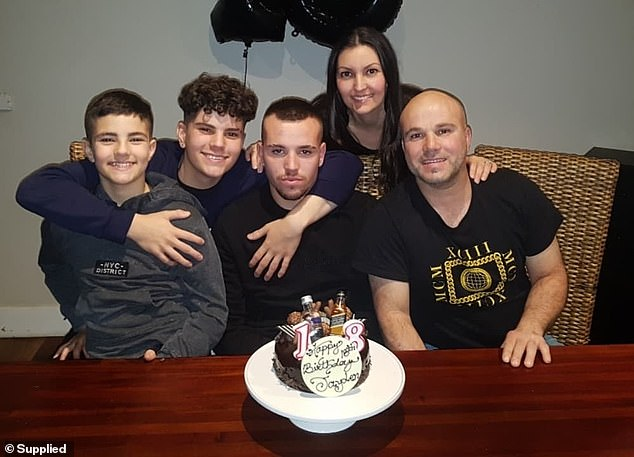 The Esposito family, pictured left to right: Seth, 13, Leigh, 16, Jayden, 18, Tanya 39 and Mark, 47