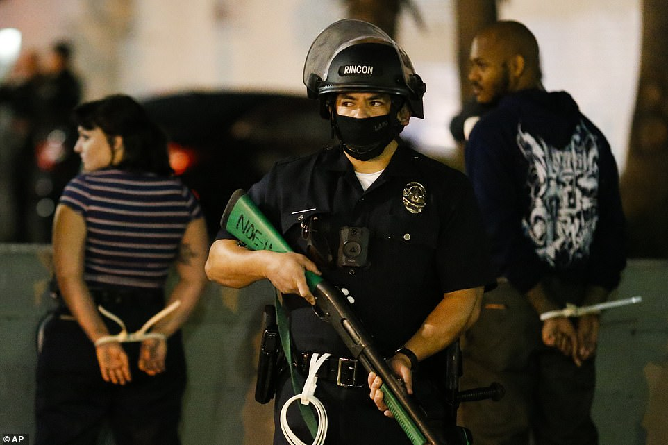 LOS ANGELES:In LA, police said 40 people were arrested in the downtown area Tuesday evening