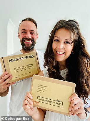 Husband-and-wife team Adam and Natalie Bamford launched Colleague Box in May