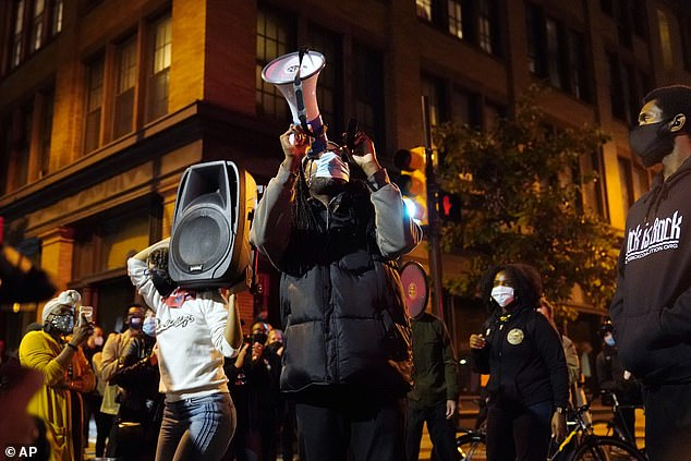 Demonstrators march to urge that all votes be counted in Philadelphia on Wednesday
