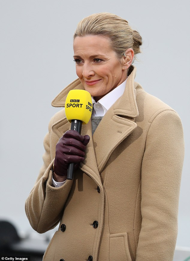 Pained:Gabby Logan has spoken out about the 'cataclysmic' long lasting impact of her brother's sudden death when he was just 15 (Gabby, pictured in September)