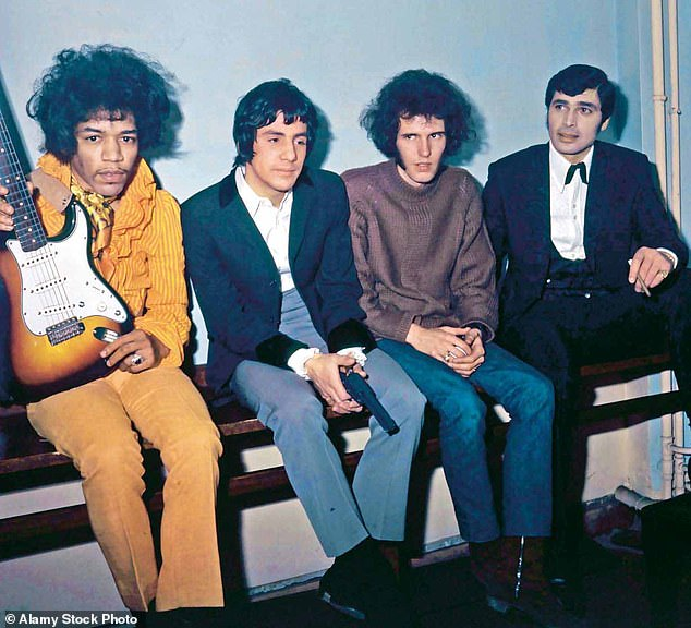 1967: This is me, far right, with (l-r) Jimi Hendrix, Cat Stevens (as he was then known) and Gary Leeds of The Walker Brothers, backstage at Finsbury Park Astoria. It was Jimi's first European tour and he wasn't well known here. He was very kind and easy going – setting fire to his guitar was just part of his act. When my guitarist didn't show up one evening, he said, 'Don't worry, man. I'll play for you.' And he did, behind a curtain. That was one of the biggest thrills of my life