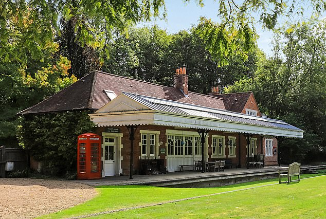 Top secret: Old Droxford Station in Hampshire is for sale. Churchill based himself in an armoured train parked in sidings here during the D-Day preparations