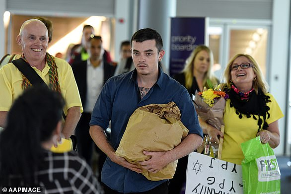 He was deported back to Australia in December 2015 (pictured arriving in Brisbane) and did not end up facing any charges over fighting for the militants