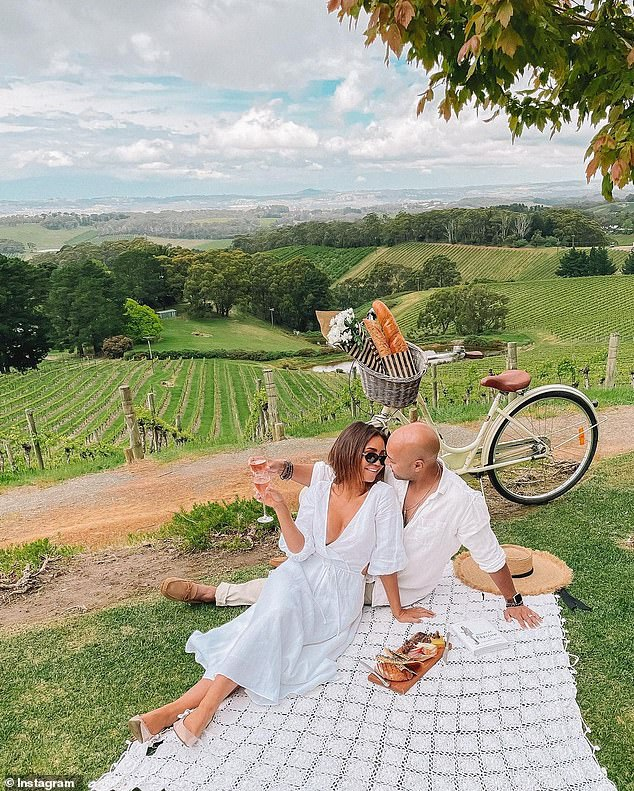 The couple documented their travels in South Australia and captured images of stunning locations that mimic the wineries of southern France and the Amalfi coast