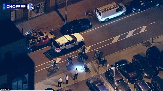 PHILADELPHIA: It's believed a weapon was found when the men were being placed under arrest