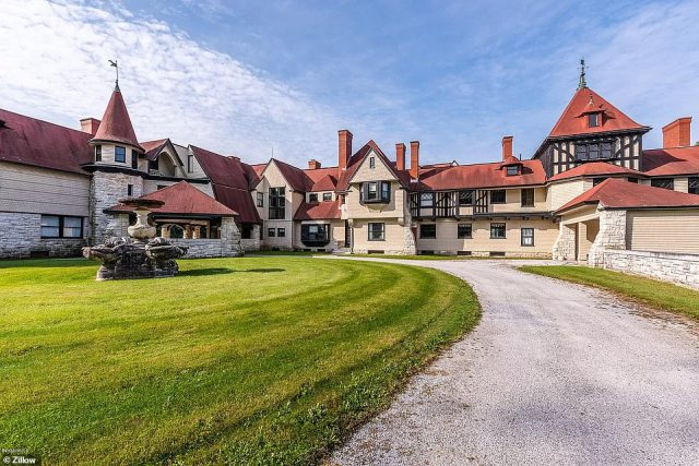 The Berkshires, Massachusetts mansion that used to be owned by the Vanderbilts - once America's wealthiest family - is currently on the market for $12.5 million