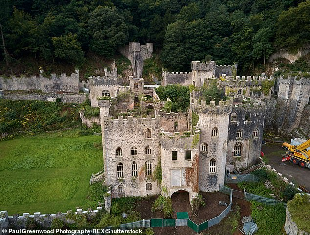 New home: After nearly two decades in Australia, the new series is taking place at Gwrych Castle amid the coronavirus pandemic