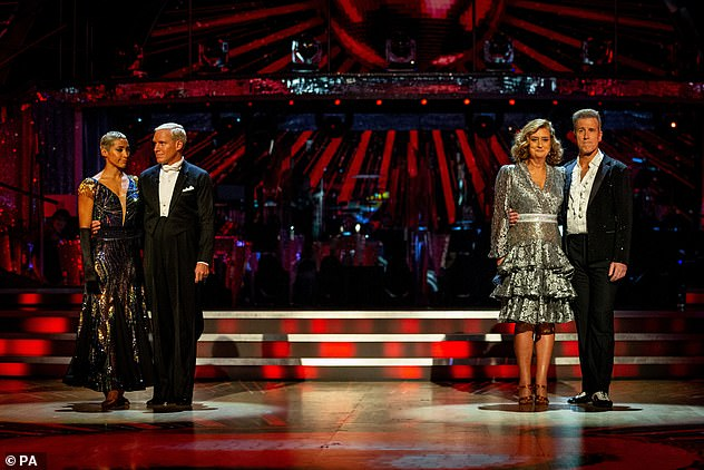 Come back time: The dancing duo faced the dance off against Jacqui Smith and Anton Du Beke last weekend