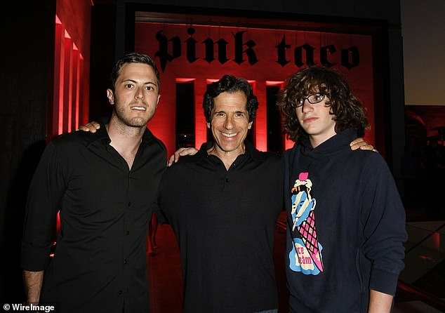 Lineage: Matthew happens to be the son of Planet Hollywood restaurateur Peter Morton; Harry Morton, Peter Morton, and Matthew Morton pictured