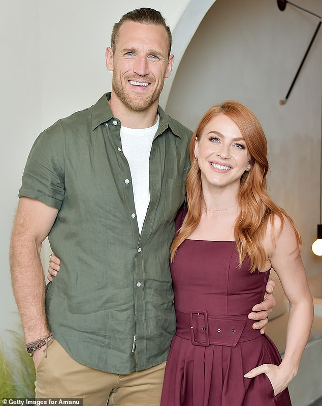 Trouble in paradise: Hough and Laich announced their separation back in May, telling People: 'We have lovingly and carefully taken the time we have needed to arrive at our decision to separate' (pictured in May, 2018)