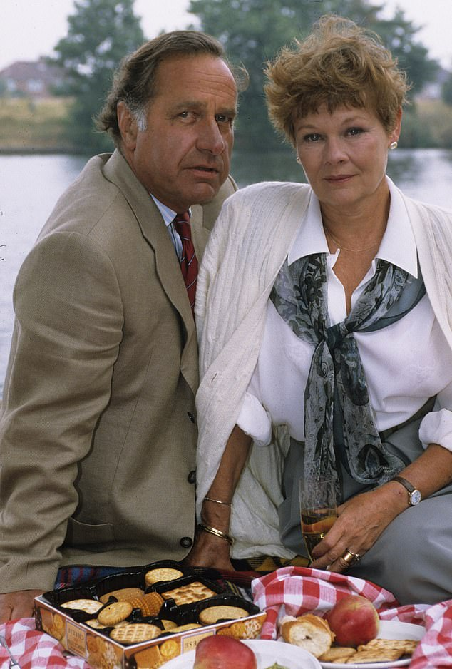 In As Time Goes By, Geoffrey played Lionel opposite Dame Judi Dench, pictured right