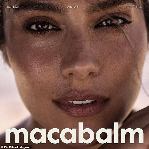 New venture: On the Macabalm website, claims to be a 'multi-tasking moisturising balm designed to hydrate, heal and illuminate the skin.' It also claims to be contain 'responsible, ethically sourced materials and ingredients'