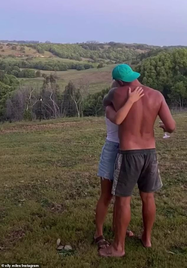How sweet: On Saturday, The Bachelorette's Elly Miles took to Instagram to share a gallery of romantic photos of herself and Frazer Neate together