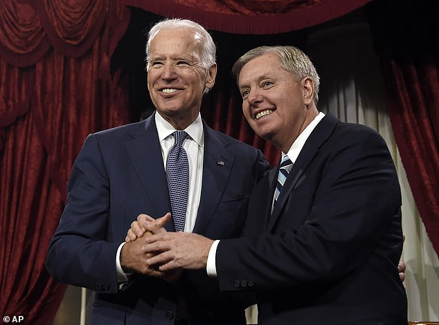 Graham and Biden, pictured in January 2015, have known each other for decades