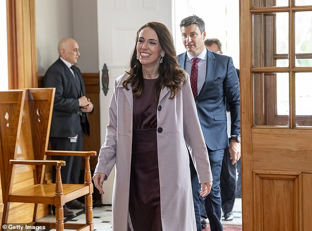Jacinda Ardern's partner Clarke Gayford will be presenting a surprise DJ set at Kiwi music festival Splore this Summer (Pictured together entering Government House on Friday)