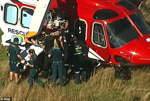 The pilot was airlifted to Brisbane's Princess Alexandra Hospital where he remains in a critical condition