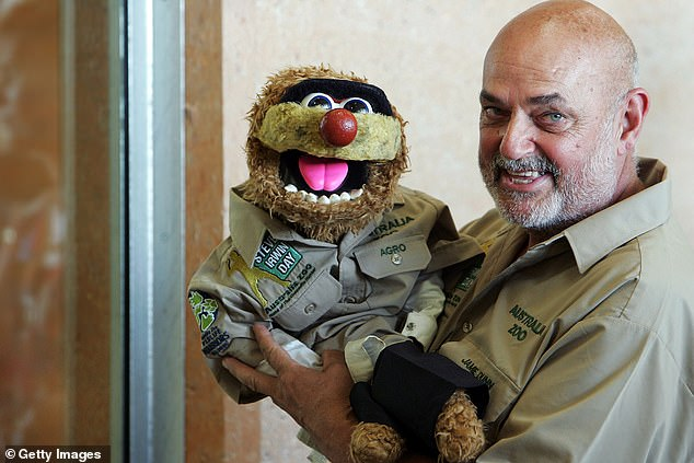 A barrel of laughs? Iconic puppet Agro is said to be in talks to star on the 2021 season of I'm a Celebrity... Get Me Out of Here! Australia, according to the Sunday Herald Sun. The puppet is operated by comedian Jamie Dunn (pictured)